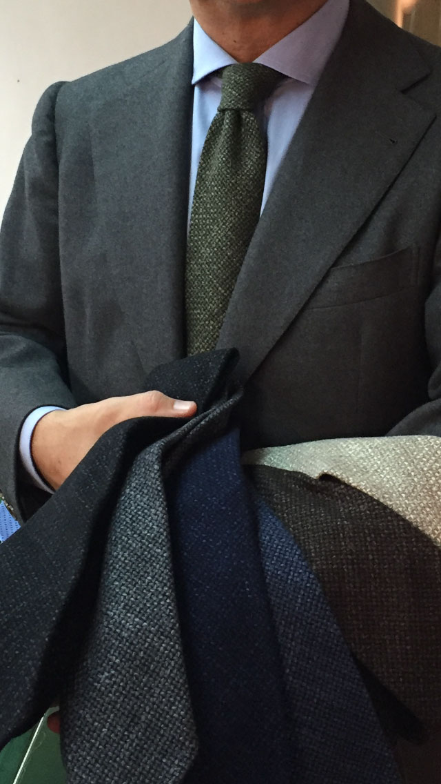 New wool grenadine in cachemire silk